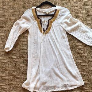 Ella moss white tunic with beading detail size Xs